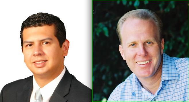 Mayoral candidates David Alvarez and Kevin Faulconer