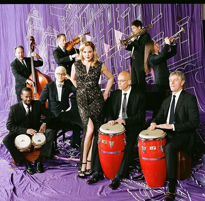Jazz-pop big band Pink Martini tickles noses and toeses at the Balboa Theatre on Wednesday.