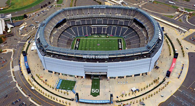 Nestled in the romantic confines of East Rutherford, New Jersey, is the $1.6 billion MetLife Stadium.