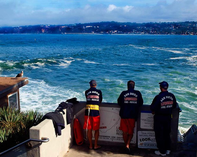 Lifeguards on the look out - La Jolla Cove