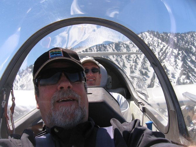Hey, we're gliding! Author and pilot.