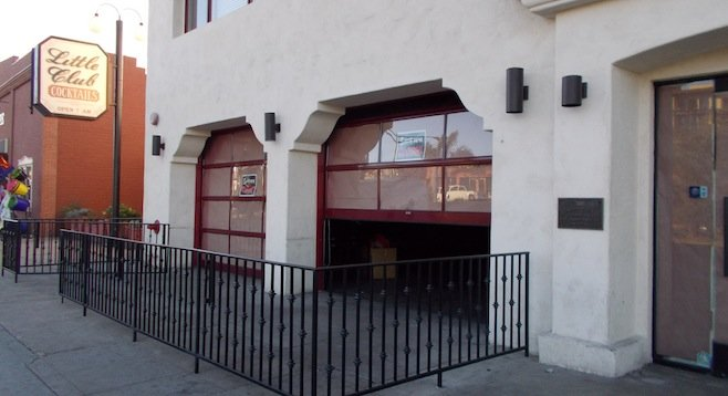 Outside of original real-life firehouse. Till recently it was the Firehouse Bar & Grill