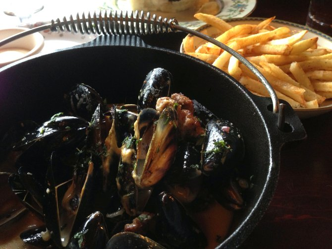 Mussels and frites at Brabant