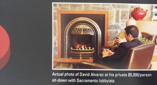 Photo of David Alvarez used in recent Lincoln Club flyer