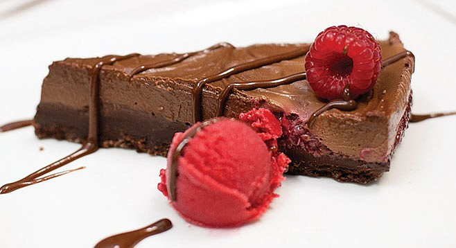 Raw Chocolate and Raspberry Cake