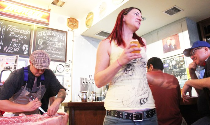 Pizza Port Solana Beach brewer Devon Randall presides over a joint brunch with whole animal butchery, Heart & Trotter, at Toronado in North Park.