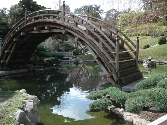 The Moon Bridge at The Huntington Library's Chinese Gardens in San Marino, CA.It was built around 1912.