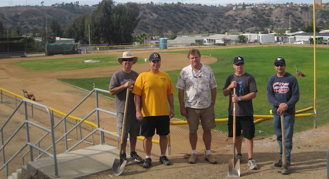 Allied Gardens Little League volunteers (Pete Famolaro, far right)