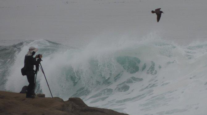 Storm Waves on the Rocks of La Jolla Cove