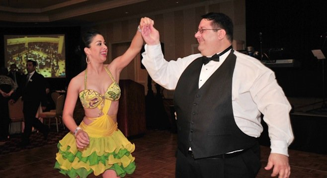 Alioto, dancing at the 2010 Southwestern fundraising gala