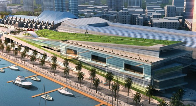 Architect's rendering of convention-center expansion