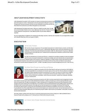 About Lesar Development Consultants