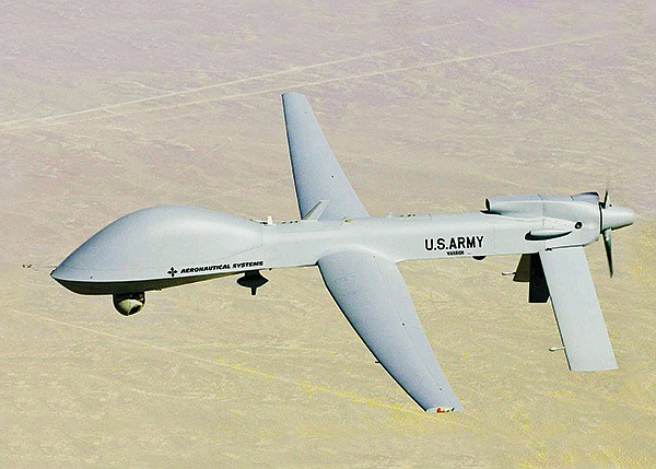 General Atomics' Gray Eagle can stay in the air for 30 hours at a time.