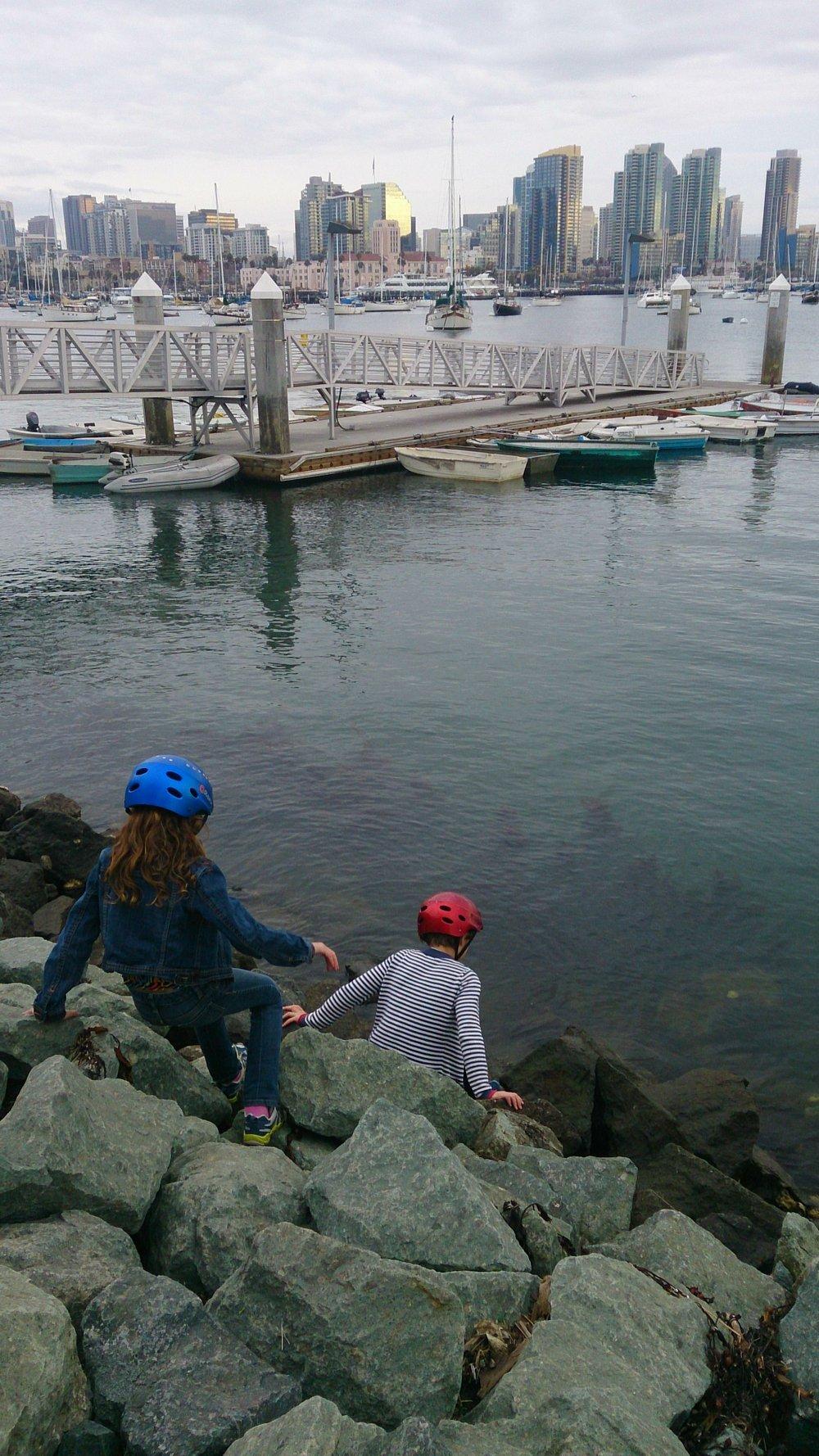Reaching Coronado's ferry landing.