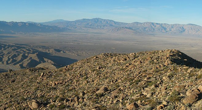 View to north into Borrego Valley from the ridge