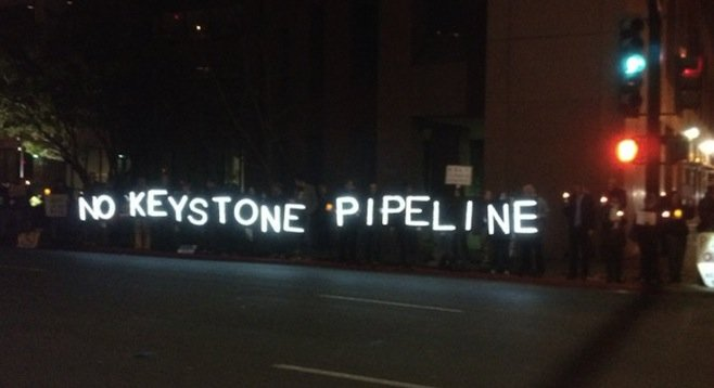 Keystone protesters on Broadway
