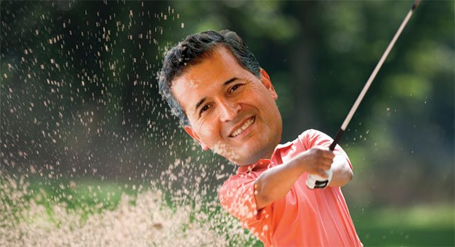 Juan Vargas takes a break from scandal to go golfing with political cash angels.