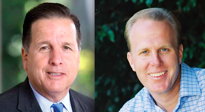 Michael Aguirre and Kevin Faulconer
