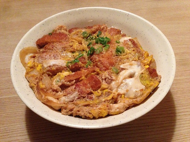 The not-so-pretty katsudon, a student favorite because it tastes like victory.
