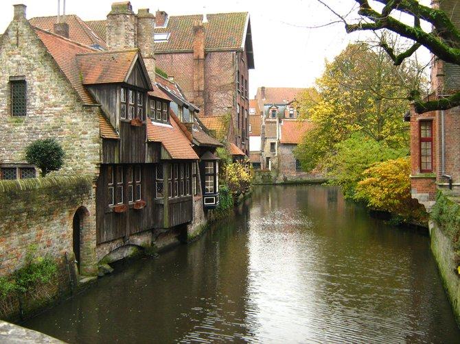 Medieval style houses, shot from the Bonifacius bridge