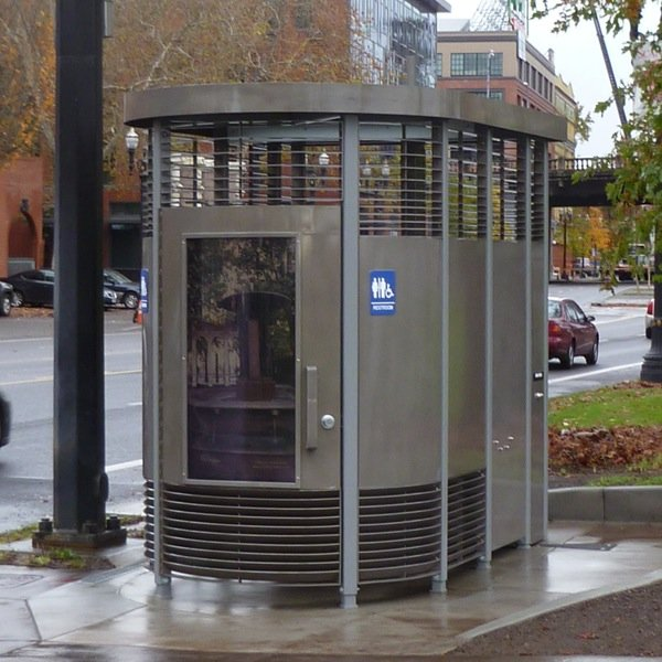 A Portland Loo (photo courtesy of Environmental Services, City of Portland, OR)