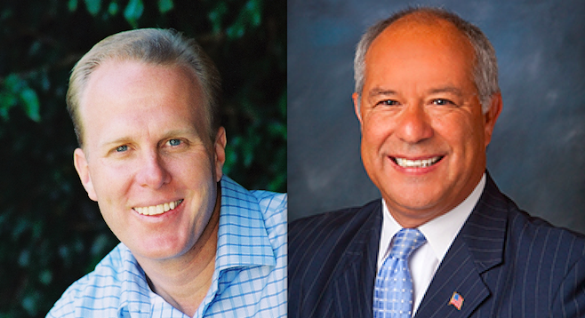 Kevin Faulconer and Hispanic 100 CEO Mario Rodriguez