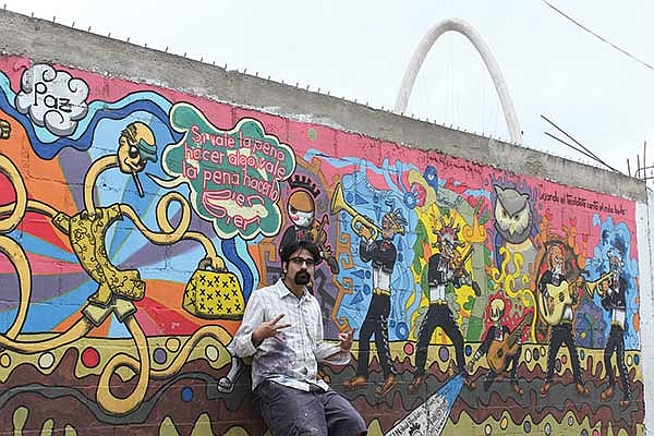 """""""The whole graffiti thing is based on respect,"""" says muralist and high school teacher Azteco."""