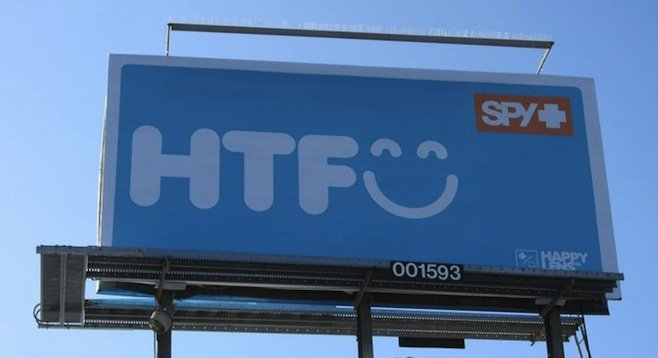 New Spy billboard in Encinitas