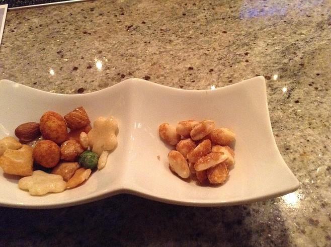 Free nuts start the night
