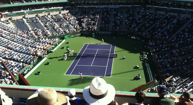 Grandstand view at last year's BNP Paribas Open in Indian Wells.