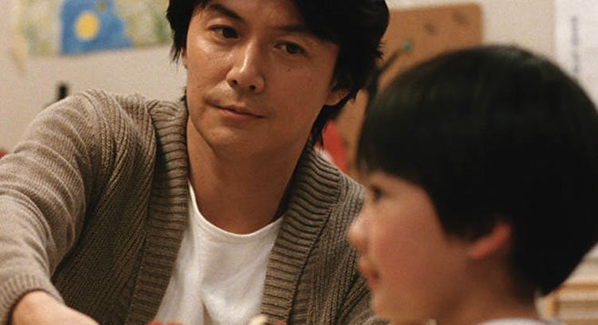 Father and another man's son: Masaharu Fukuyama and Keita Ninomiya in Hirokazu Koreeda's Like Father, Like Son.