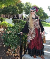 Lisa Vaca, steampunk and Victorian-Colonial fashion history enthusiast.