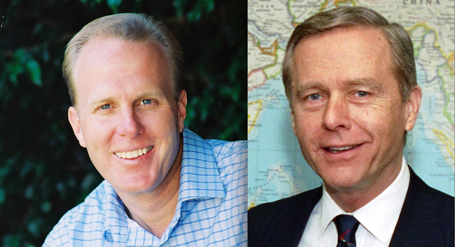 Kevin Faulconer and Pete Wilson