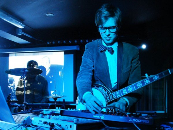 Sample-happy UK art-pop duo Public Service Broadcasting plug in at Casbah Tuesday night.