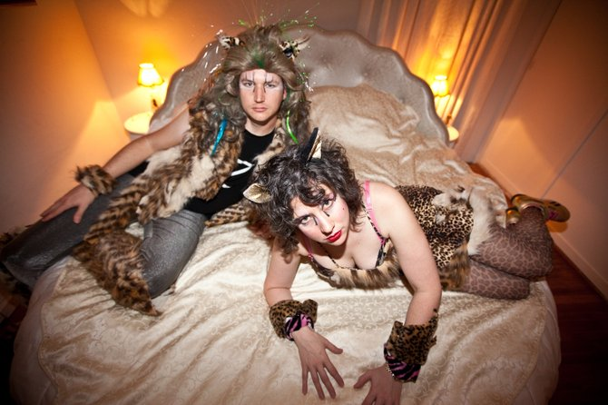 Electro-pop duo headline Valentine's night sets at Casbah. Me-OW!