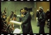 Gene with Marvin Gaye in the background.