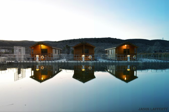 perfect little getaway, stay at the santee lakes cabins