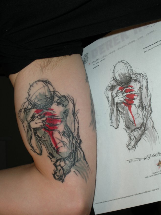 Tattoo you my tattoo is from a drawing by the artist for Tattoo deals near me
