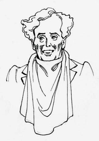 Caricature of Kevin Burnette as Dulcamara by Joseph Sanabria.