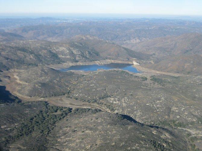 Lake Sutherland northeast of Ramona
