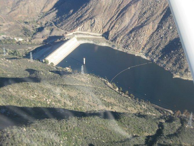 El Capitan Reservoir dam near Lakeside.