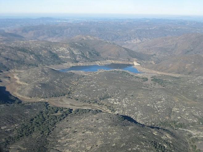 Lake Sutherland, northeast of Ramona