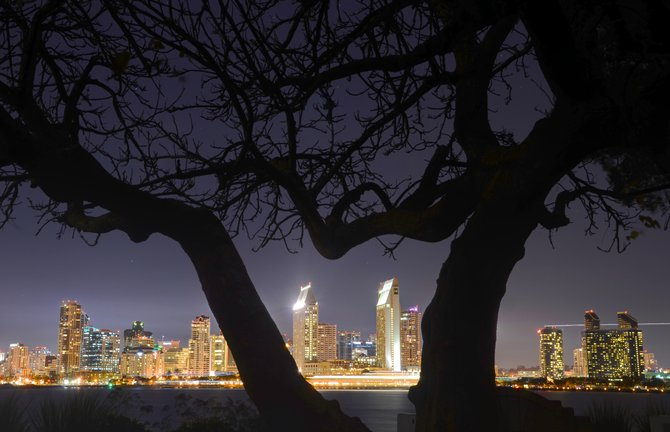City lights from Coronado.