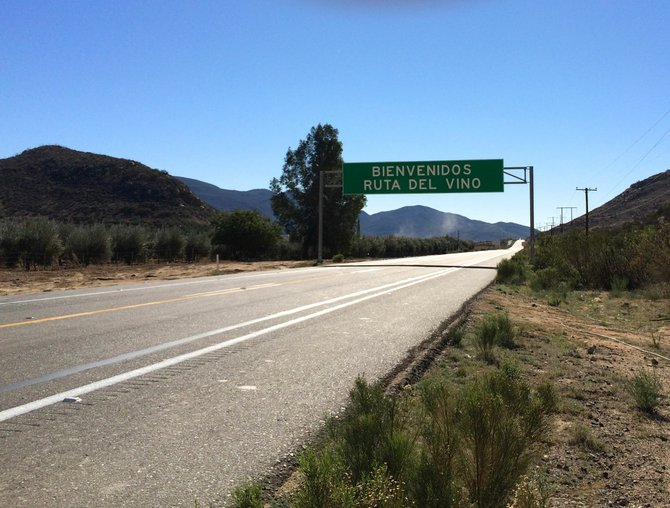 The road leading from Tecate to the Guadalupe Valley is well paved, with helpful signs.