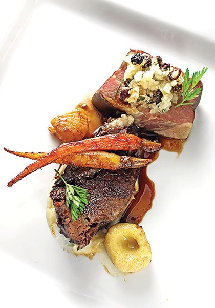 Chef Javier Plascencia served slow-roasted beef cheek at the La Plancha pop-up.