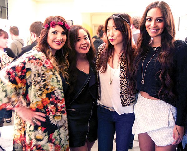 Vanessa Johnson, far left, gathered up her artist friends, local designers, and other art and fashion industry contacts and began Vixen Productions.