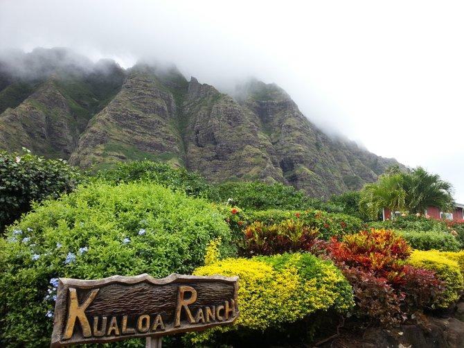 Hidden mountain- Kualoa Ranch, Oahu Hawaii