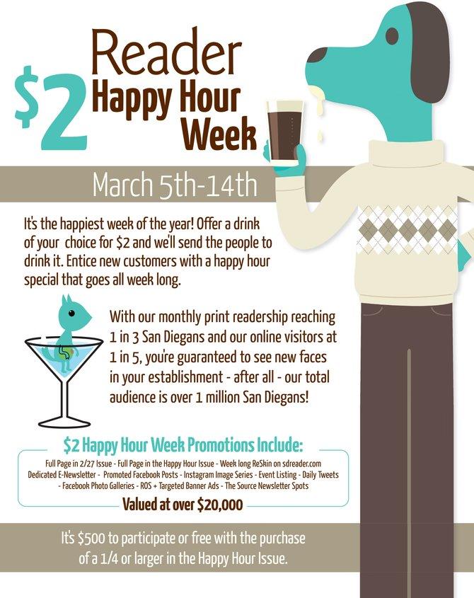 $2 Happy Hour 2014