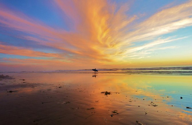 Carlsbad Sunset by San Diego Scenic Photography.