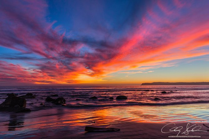 Sunset over Coronado by Andrew Shoemaker.